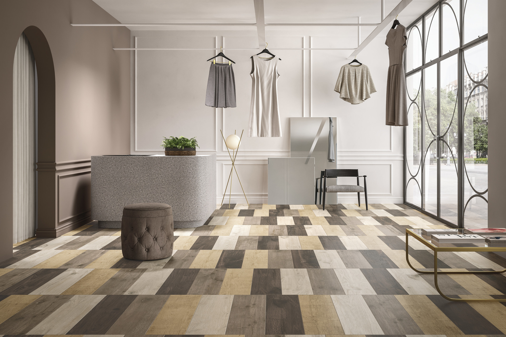 Wood Effect Porcelain Tiles - Bois Urbain