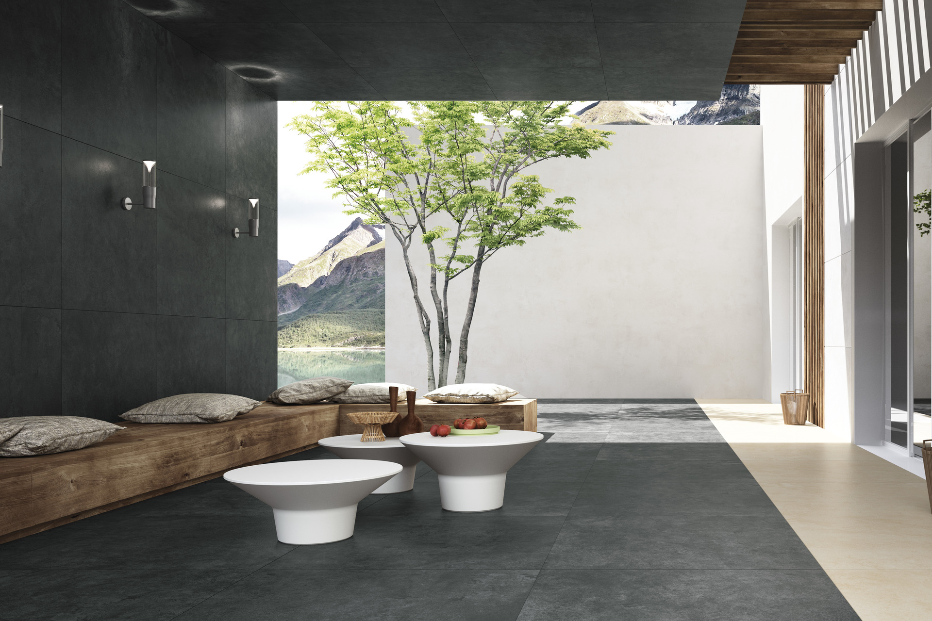 Stone Effect Porcelain Tiles - Quietstones Maximum