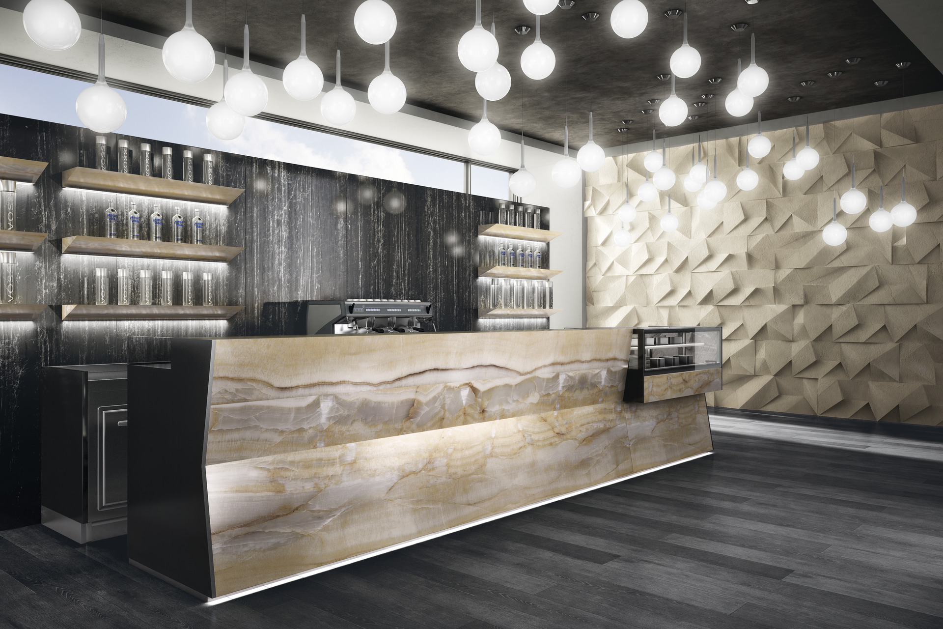 Marble Effect Porcelain Tiles - Onici