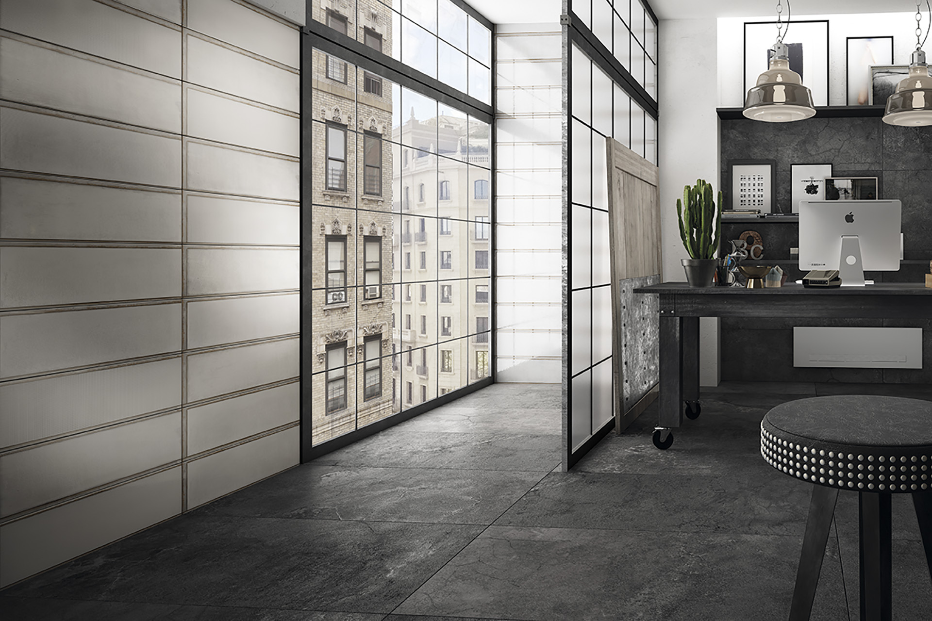Modern Design Porcelain Tiles - Industrial Glass