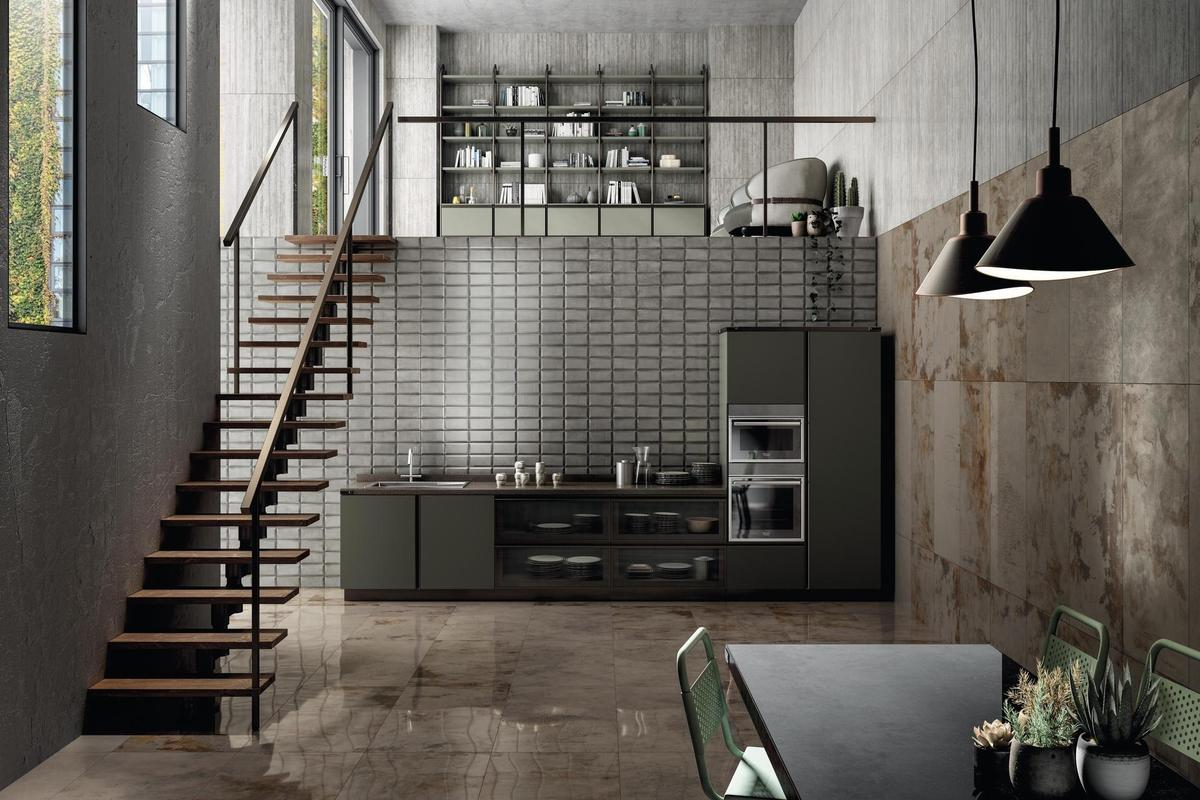 Metal Effect Porcelain Tiles - Metal Perf