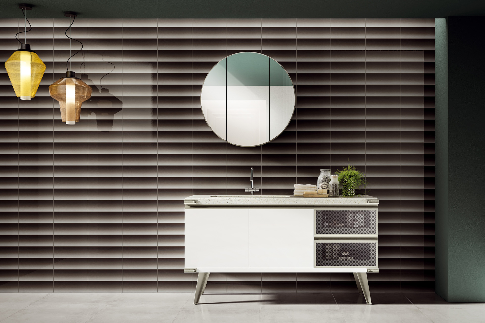 Stone Effect Porcelain Tiles - Shades of Blinds