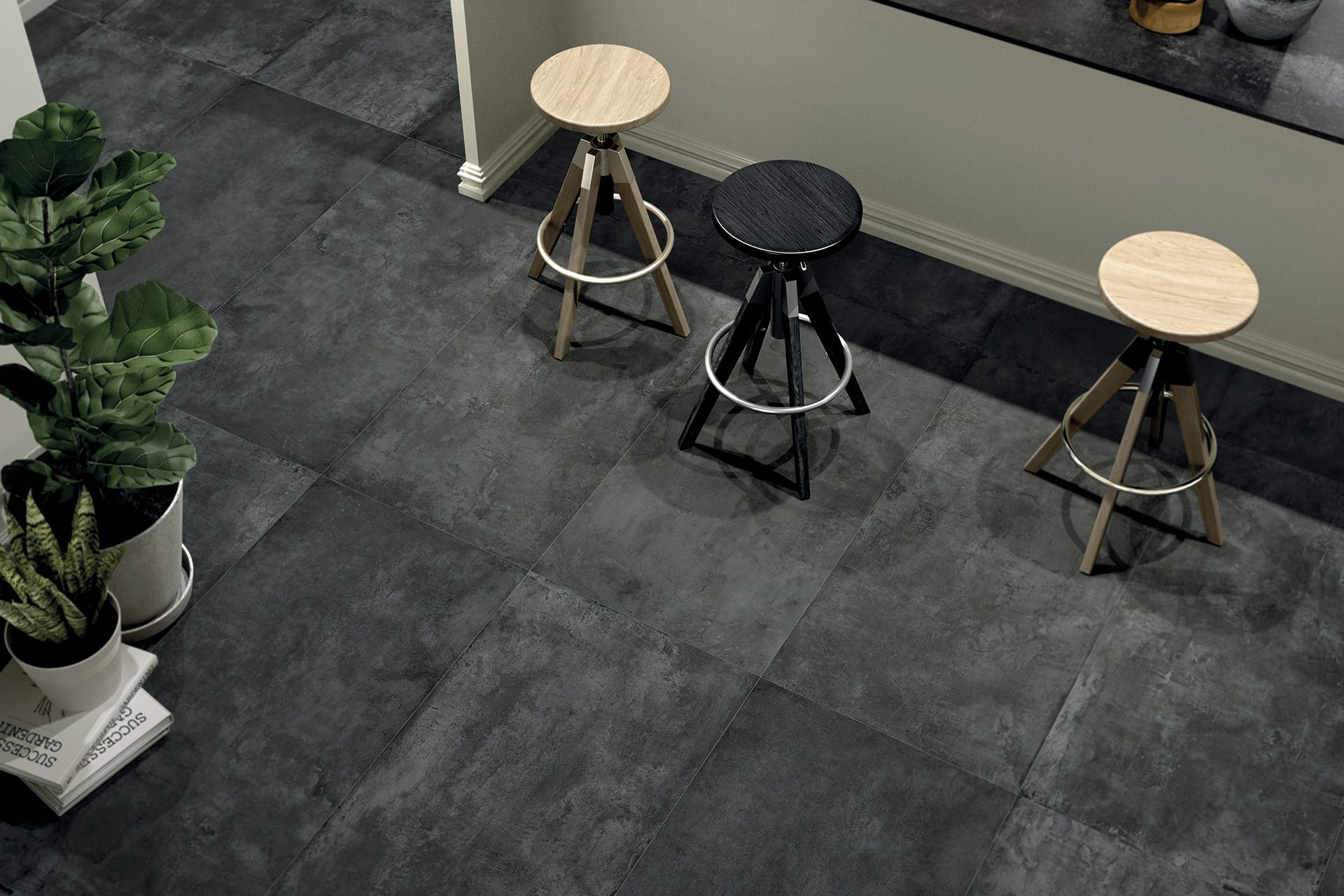 Cement / Resin Effect Porcelain Tiles - GROUND