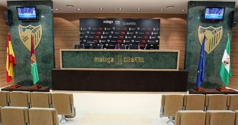 The new press room of Málaga C.F